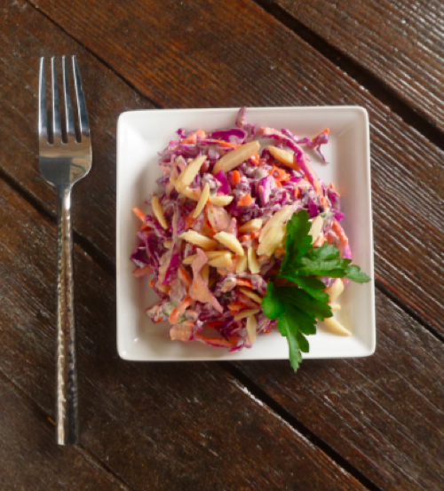Red Cabbage Slaw from FreshBitesDaily.com