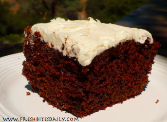 Chocolate Zucchini Cake at FreshBitesDaily.com