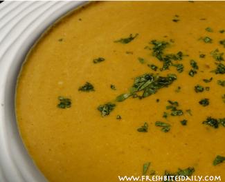 Curried Pumpkin Soup at FreshBitesDaily.com