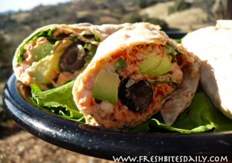 Some of the best road food around in this salmon wrap