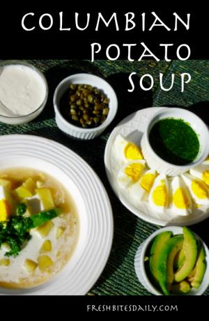 Columbian Potato Soup at FreshBitesDaily.com