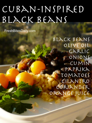 Cuban-Inspired Black Beans at FreshBitesDaily.com