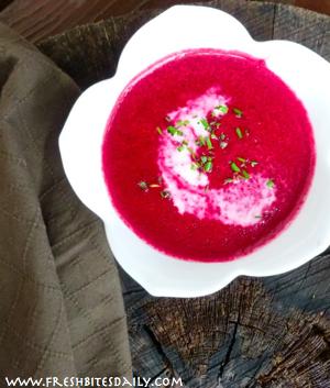 Beet Root Soup at FreshBitesDaily.com