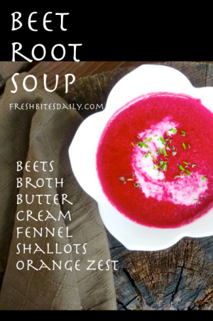 Beet Root Soup at FreshBitesDaily.com