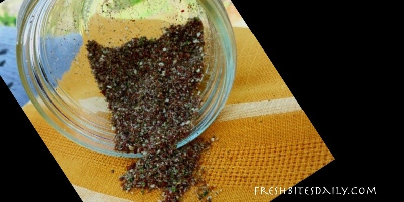 Zaatar: Homemade Zaatar Spice Mix