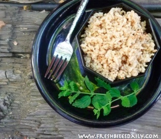 A quicker-cooking and lighter-tasting brown rice pilaf
