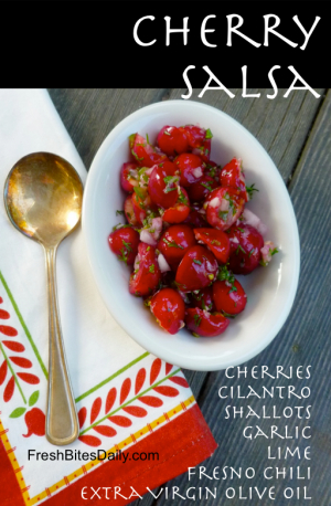 Cherry Salsa at FreshBitesDaily.com