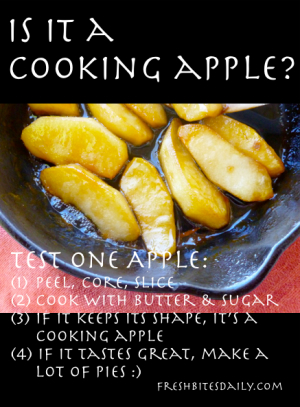 Cooking Apple Tip from FreshBitesDaily.com