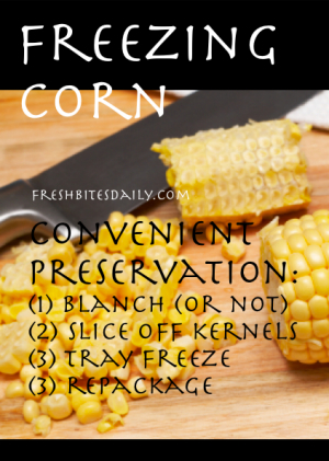 Freezing Corn at FreshBitesDaily.com