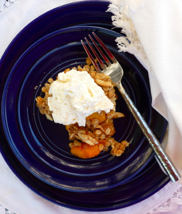 Peach Crisp with Almond Oatmeal Topping