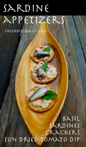 A sardine appetizer with wonderful flavors of the summer