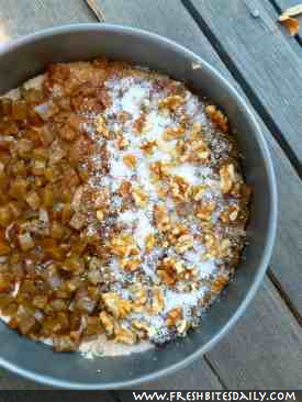 Zucchini Coffee Cake with Candied Zucchini at FreshBitesDaily.com