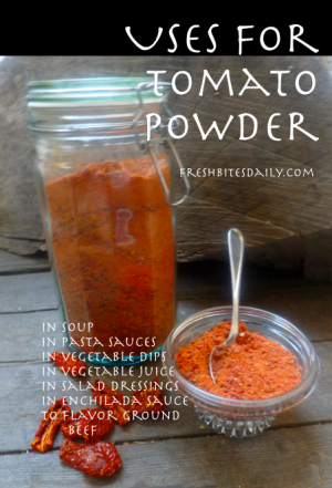 Homemade Tomato Powder at FreshBitesDaily.com