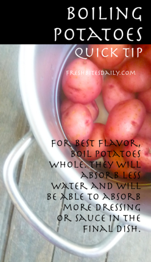 Boiling Potatoes Tip at FreshBitesDaily.com