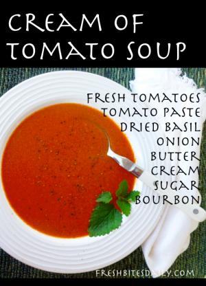 Cream of Tomato Soup from FreshBitesDaily.com