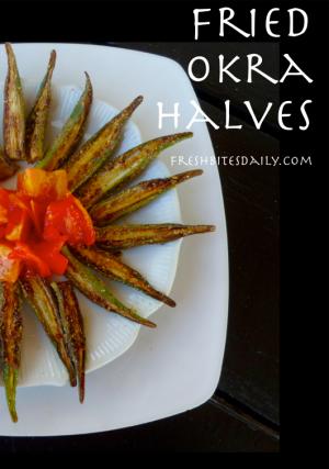 Fried Okra Halves at FreshBitesDaily.com