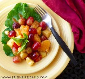Savory Fruit Salad at FreshBitesDaily.com