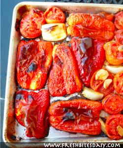 Roasting Peppers at FreshBitesDaily.com