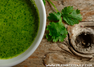 You will chase this cilantro salsa across your plate. It's that good...