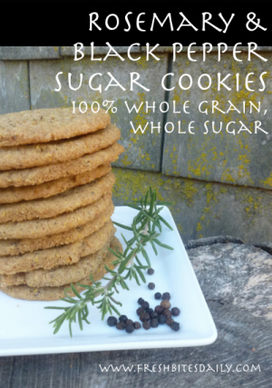 A sugar cookie with spices you usually put in pasta sauce. And it actually works very well.