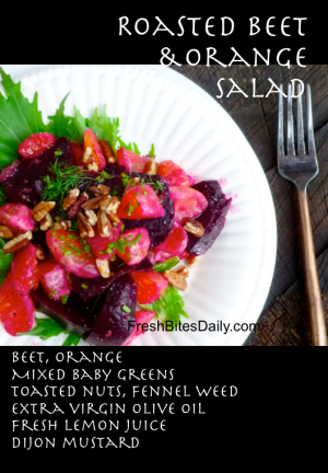 Roasted Beet and Orange Salad at FreshBitesDaily.com
