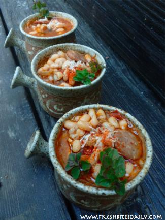 White Bean Barley Soup at FreshBitesDaily.com