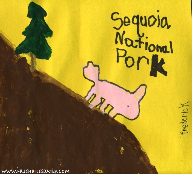 Pollan Painting #3: Sequoia National Pork from FreshBitesDaily.com