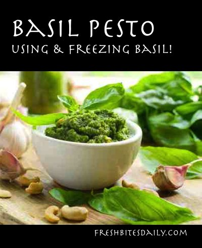 Basil pesto: Capture the brightness of basil & even store it for the winter