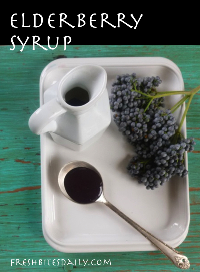Homemade elderberry syrup to fight the flu (or just for good eating)