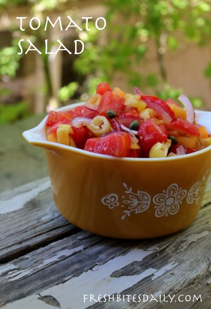 If you can manage a vine-ripened heirloom tomato, eating this salad may feel a little bit like Heaven