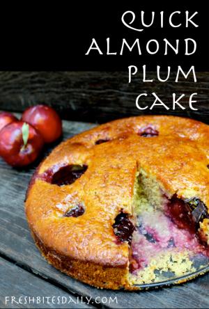 Quick Almond Plum Cake at FreshBitesDaily.com