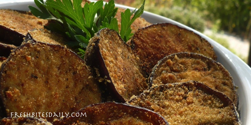 Breaded eggplant, baked in the oven for a healthier take on the classic