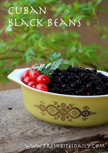 Cuban-inspired black beans