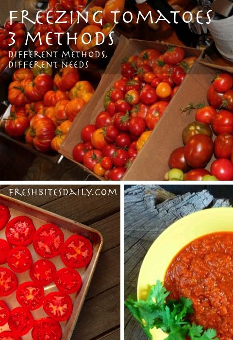 Freezing tomatoes: 3 ways to preserve the tomato harvest