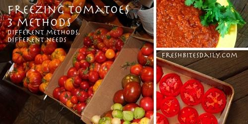 Freezing Tomatoes 3 Ways To Preserve The Tomato Harvest Fresh