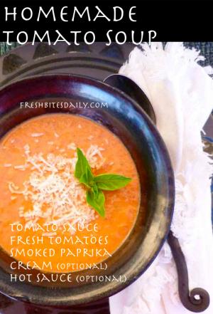 Homemade Tomato Soup at FreshBitesDaily.com