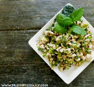 A simple Thai-inspired larp salad comes together quickly with leftover chicken