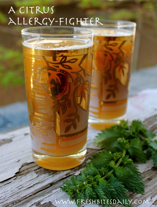 A refreshing way to down a bunch of nettle tea