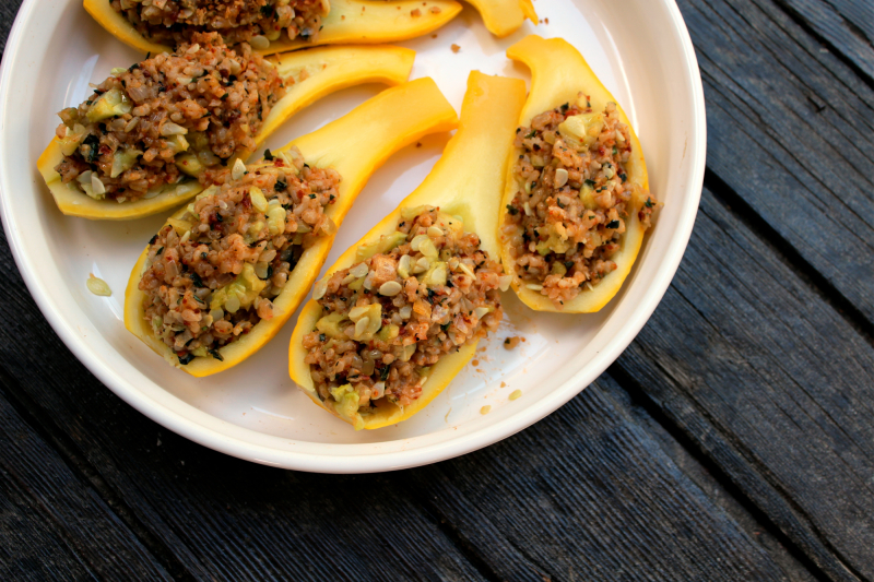 Stuffed Yellow Squash at FreshBitesDaily.com
