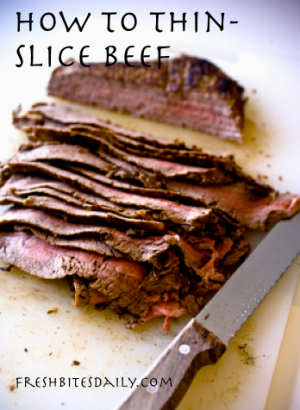 Thin Sliced Beef Tip from FreshBitesDaily.com