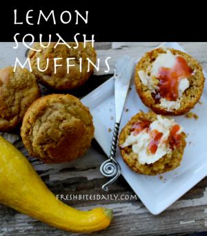 Lemon Squash Muffins at FreshBitesDaily.com