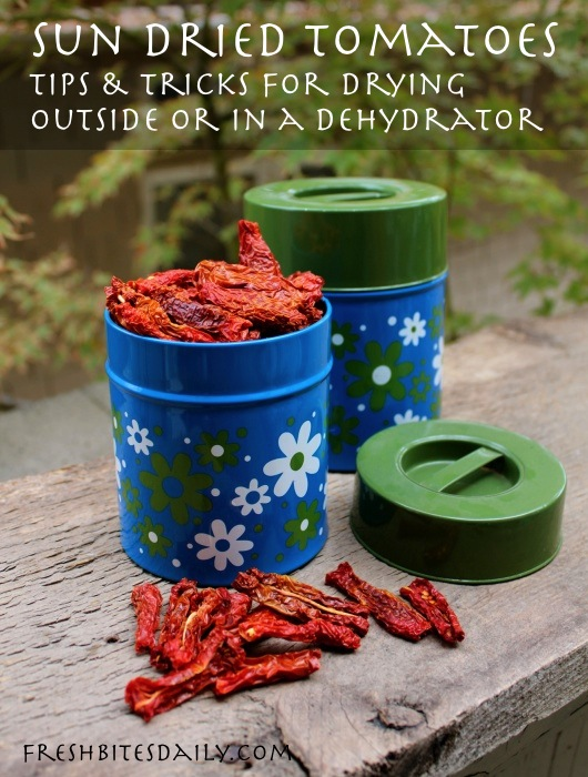 Dehydrated tomatoes -- In the sun or in your dehydrator, this is how you do it