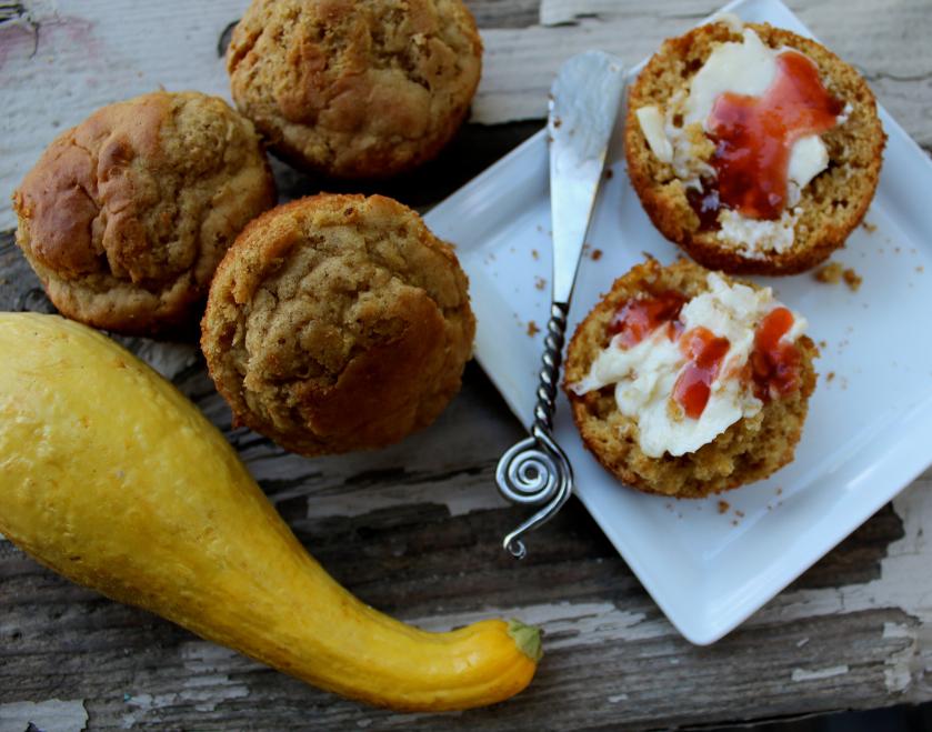 Lemon-Squash Muffins