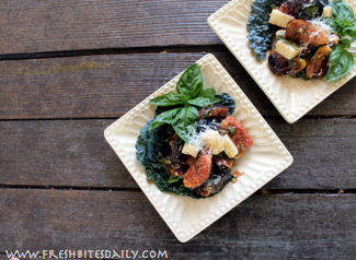 Marinated Fig and Kale Salad at FreshBitesDaily.com
