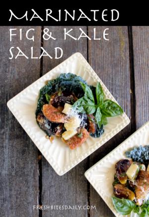 Marinated Fig and Kale Salad at FreshBitesDaily.com
