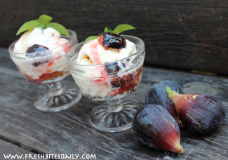 Roasted Fig with Ice Cream from FreshBitesDaily.com