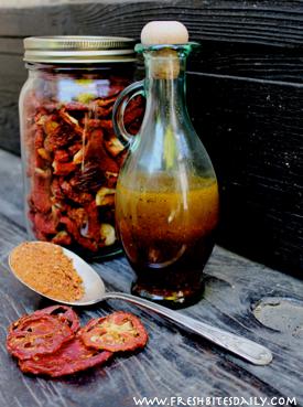 A tomato powder vinaigrette, a great flavor of the summer!