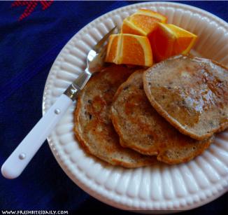 Acorn Pancakes with Bacon at FreshBitesDaily.com
