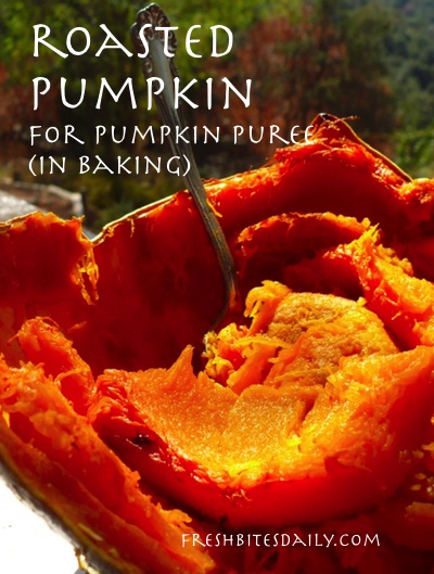 Roasted Pumpkin -- For Pumpkin Puree or Pumpkin Spears