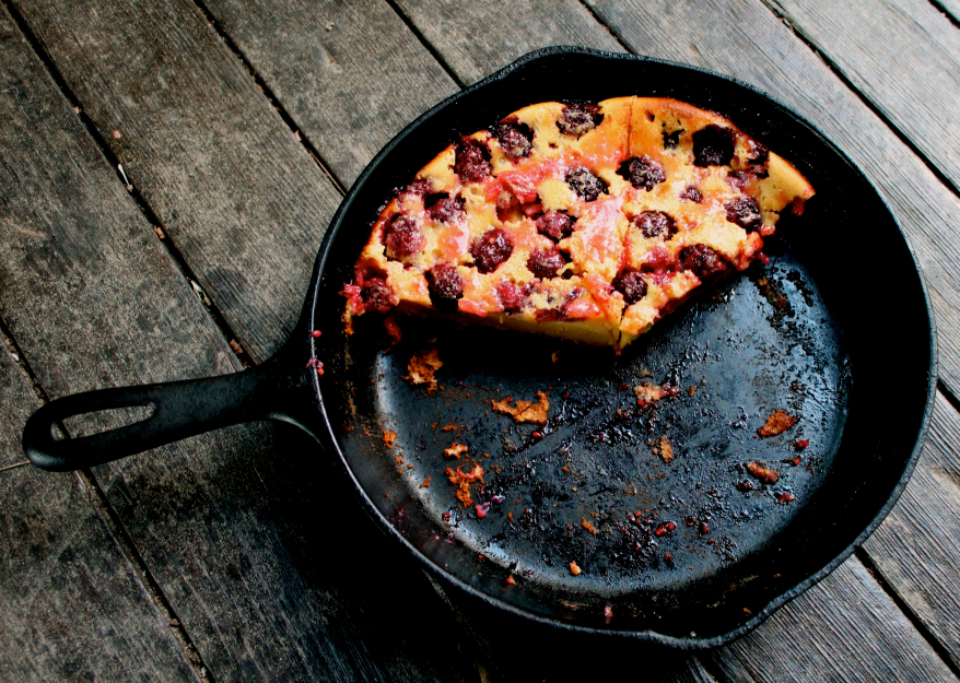 A clafouti with blackberries though you will want to experiment with every fruit once you taste this…